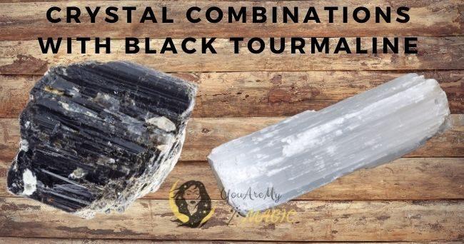 Black Tourmaline crystal combination