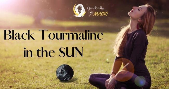 Black Tourmaline in sun
