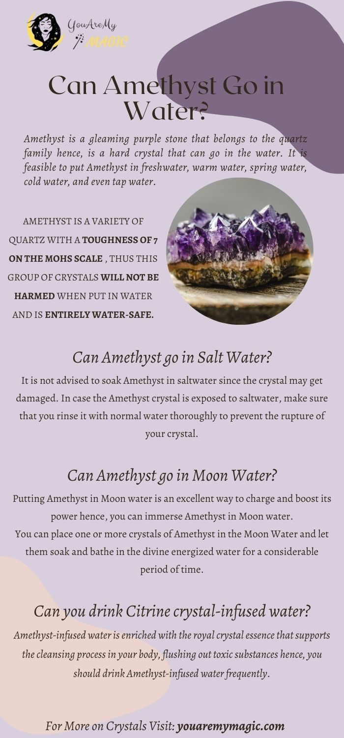 Can Amethyst go in water?
