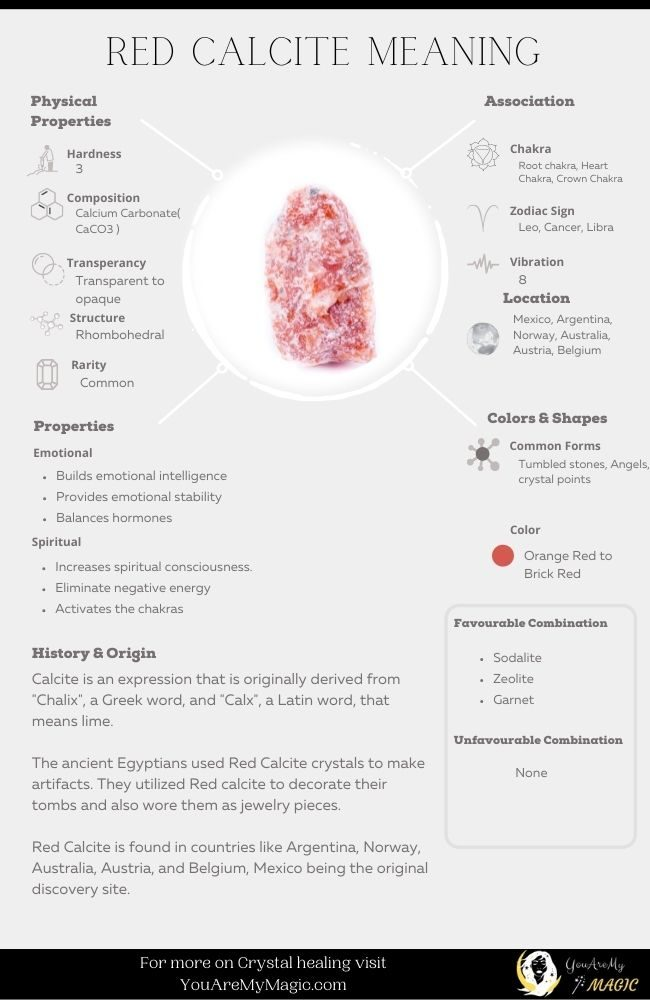 Red Calcite meaning and properties