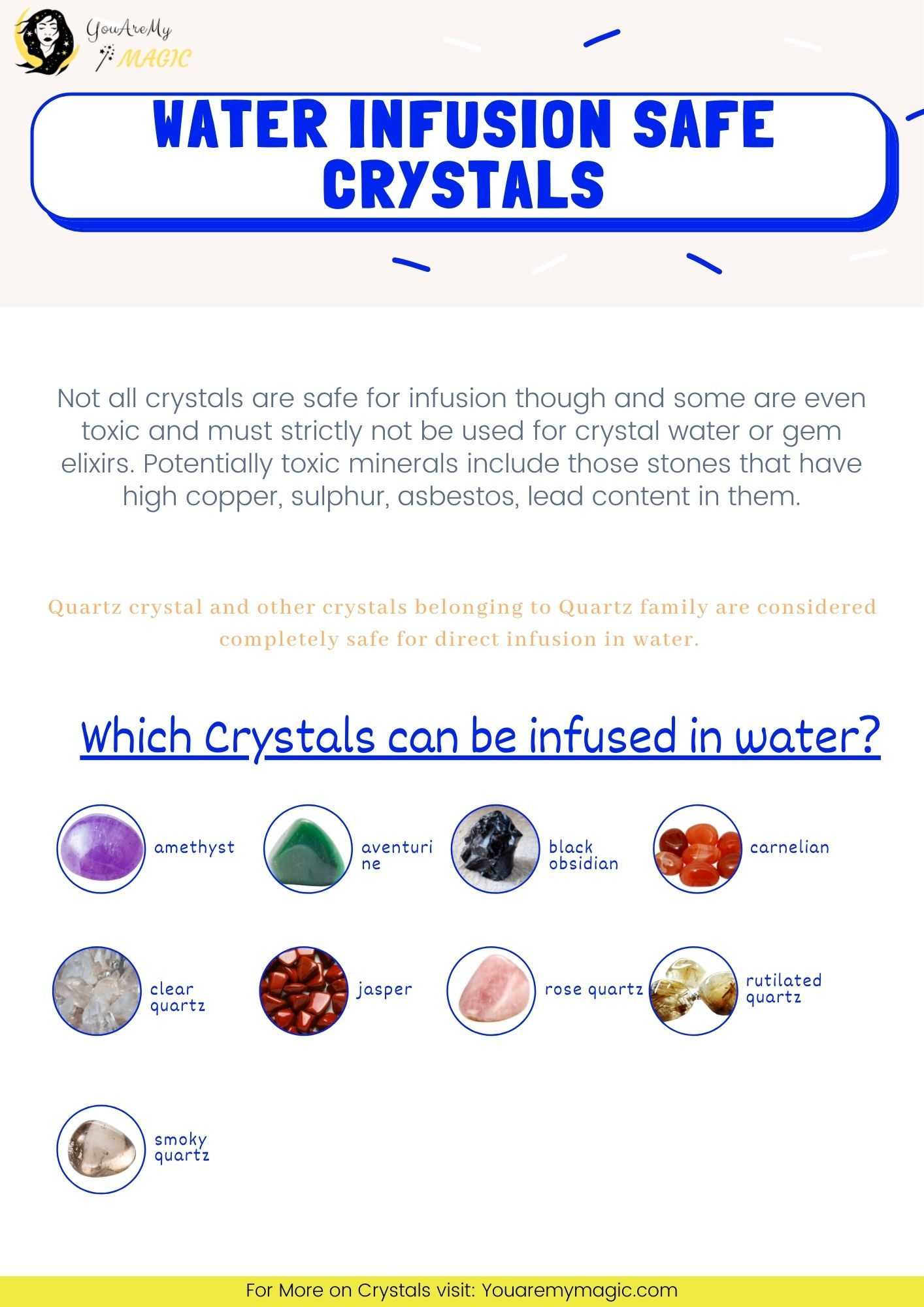 Water Infusion safe Crystal List