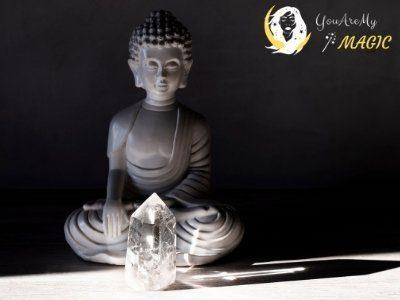 meditation clear quartz
