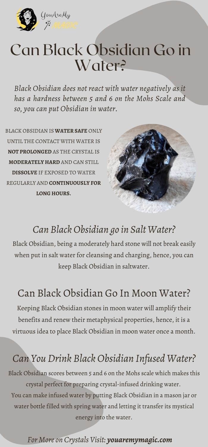 Can Black Obsidian go in water