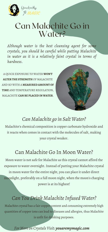 Can Malachite go in water