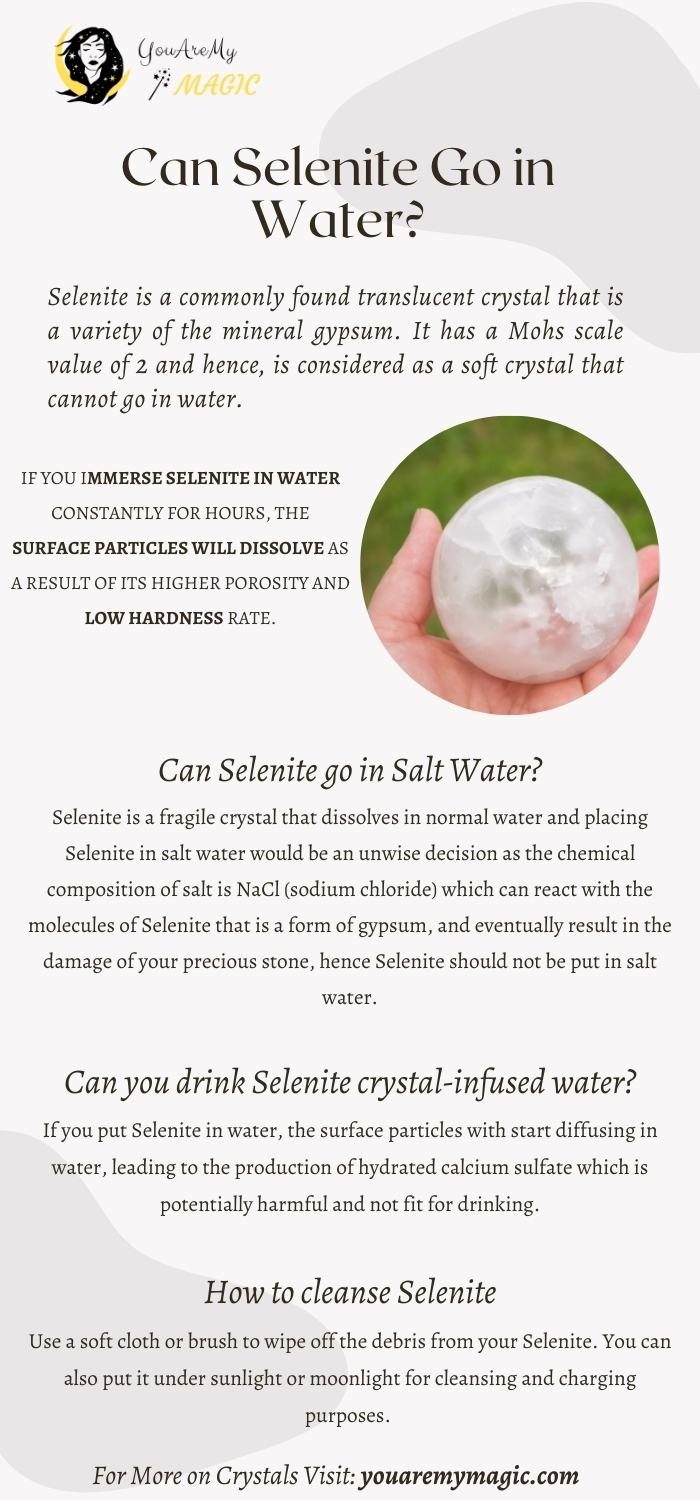 Can Selenite go in water