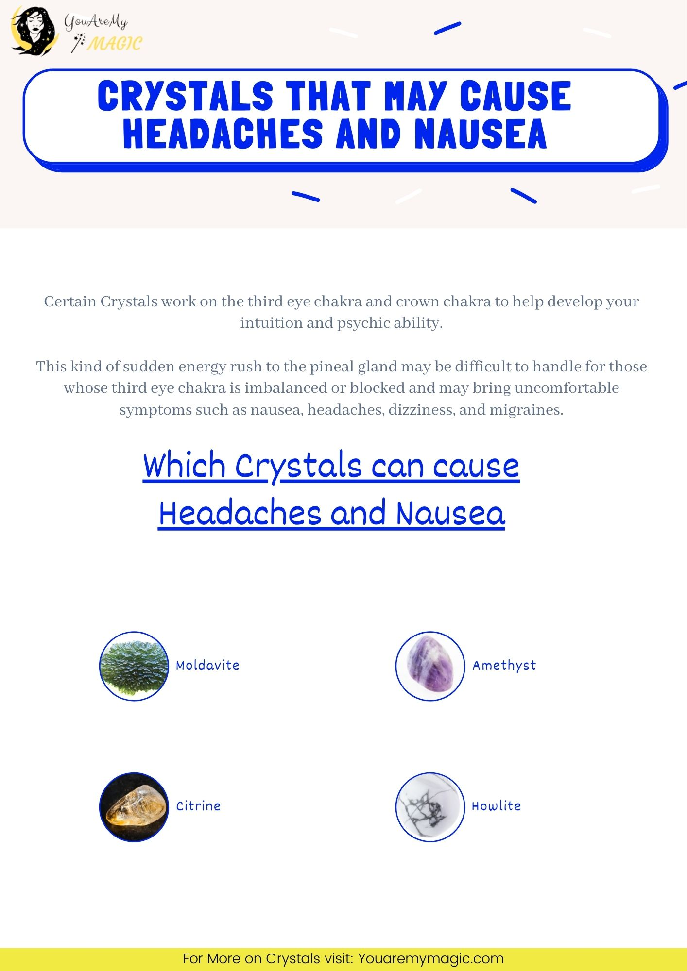 Crystal stone Side effect - Headaches and Nausea