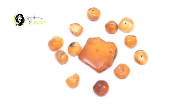 Large Natural Baltic Amber Beads for Virgo