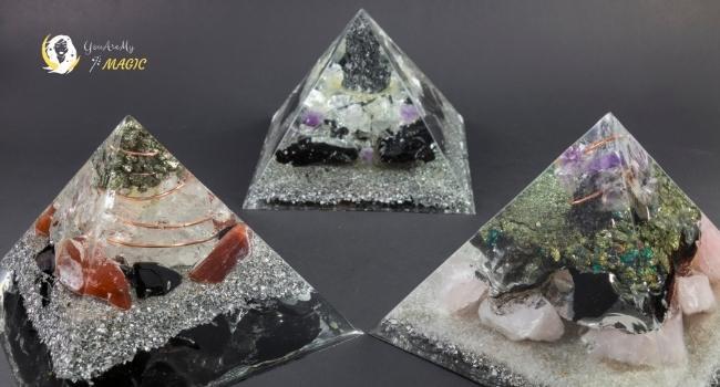 Natural Malachite Crystal Orgone Cone for Virgo